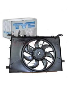 TYC Dual Radiator and Condenser Fan Assembly